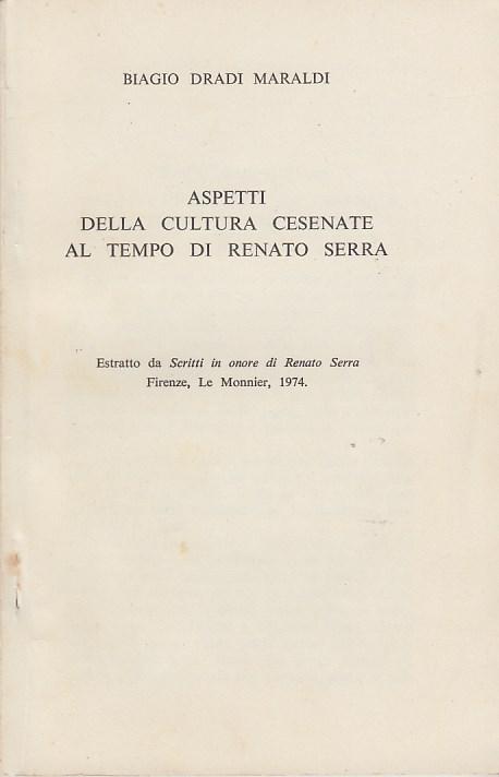 Aspetti della cultura cesenate al tempo di Renato Serra