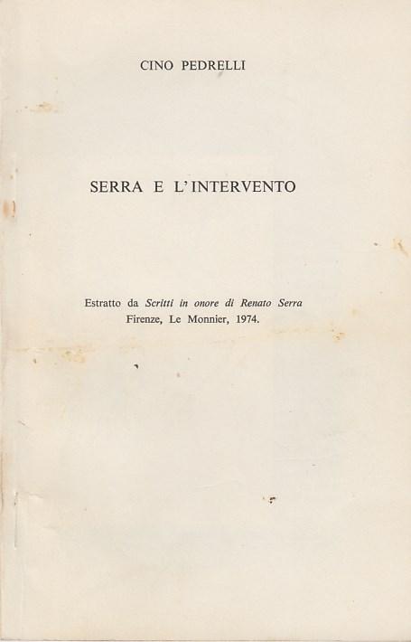 Serra e l'intervento