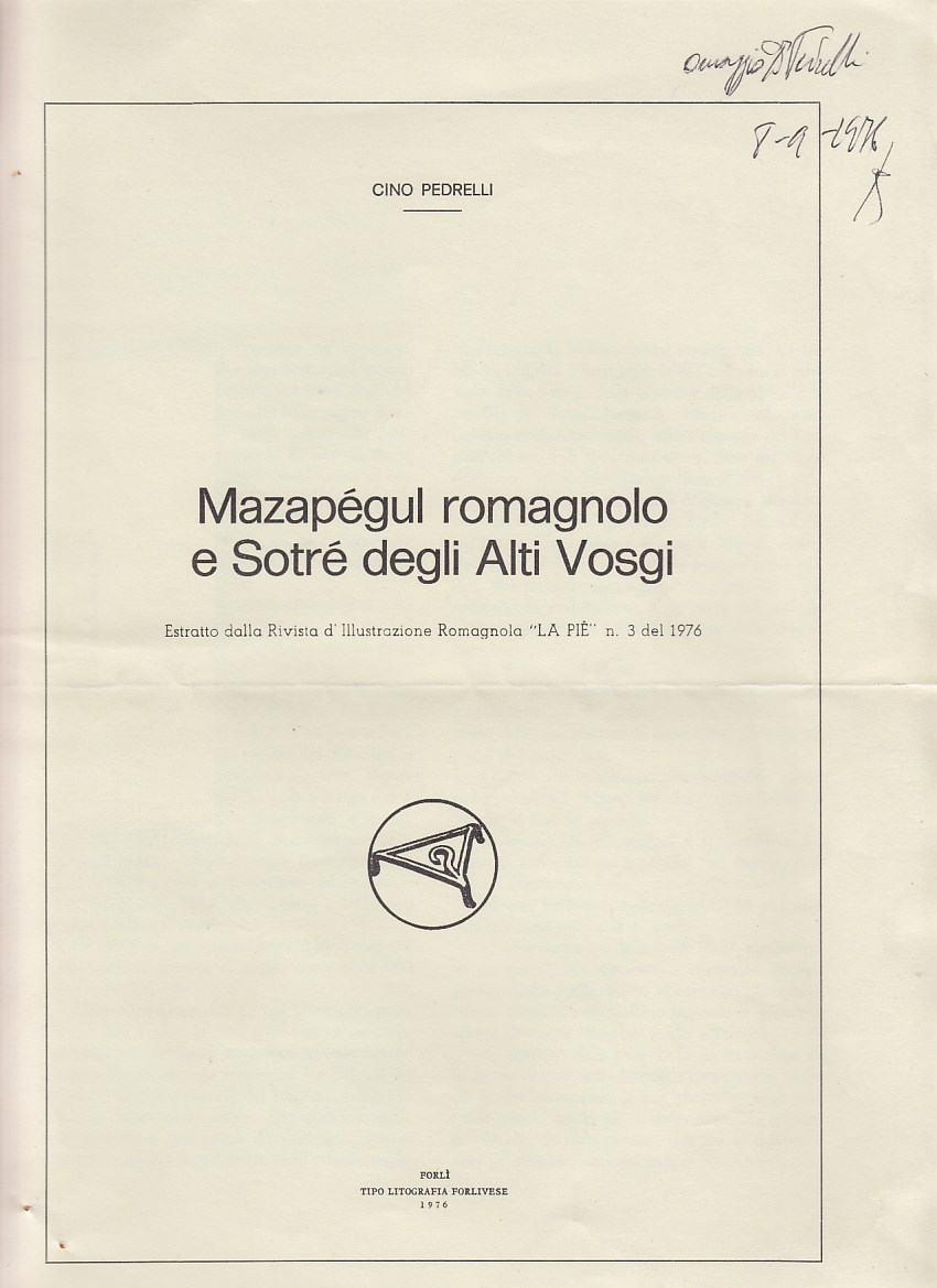 Mazapégul romagnolo e Sotré degli Altri Vosgi